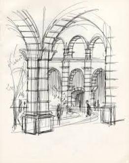 Interior sketch San Miguel de Allende